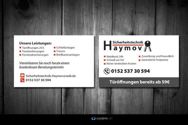 Visitenkarten für Haymov