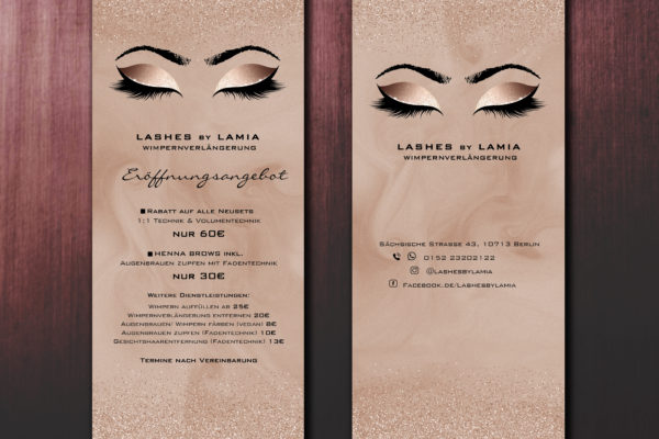 Flyer für Lashes by Lamia